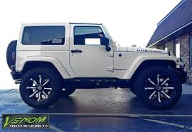 spyder jeep 2013 bright white rubicon venom motorsports grand rapids mi