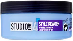 L Oreal Studio oreal studio line 4 style rework architect shine wax 75ml