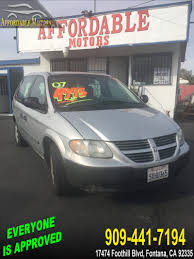 used 2007 dodge caravan se in fontana