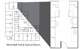 study room floor plan west hall campus living