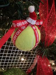 diy tennis ornaments made by kilb