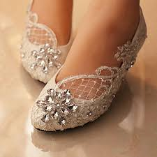 silver flat wedding shoes wedding shoes low heel pink lace wedge ebay