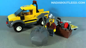 lego jeep lego city mining 4x4 jeep 4200 youtube