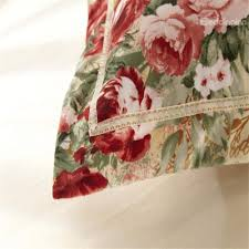 country style flower print sandedcloth material 4 piece bedding