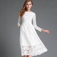 white lace dress 2017 new summer women white lace dress lace