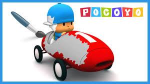 pocoyo coloring book pocoyo driving racing car fun coloring