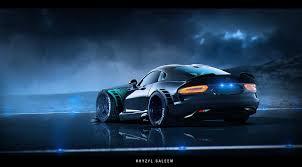 dodge supercar concept artstation viper khyzyl saleem