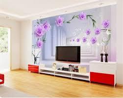 online shop beibehang custom modern simple tv wall purple rose