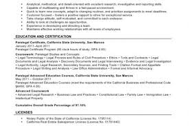 Paralegal Resume Example Example Of Paralegal Resume Paralegal Resume Remarkable