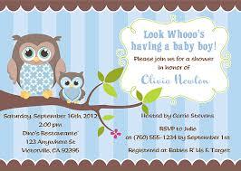 owl baby shower invitations boy 2155