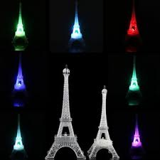 romantic eiffel tower desk bedroom night light decoration baby