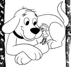 coloring page of a big dog clifford the big red dog coloring pages free on art ribsvigyapan
