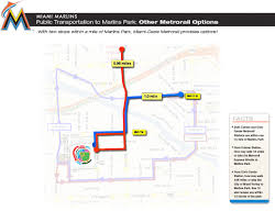 Miami Train Map by Transportation To Marlins Park Marlins Com Ballpark