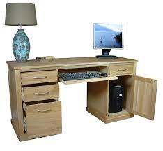 Personal Computer Desk Modern Computer Desks A World Of Oak A Touch Of Pine