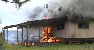 Hawaiian House Lava From Kilauea Volcano Engulfs First Hawaiian House In Pahoa