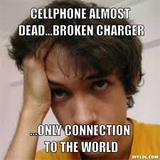 Dead Phone Meme - how to charge a smartphone with a broken charging port or faulty