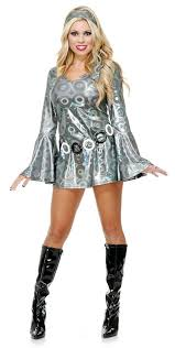 costume women women s silver disco dress 60 s and 70 s costumes 60 s