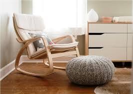 White Wooden Rocking Chair For Nursery Creative Idea Interior Design With White Contemporary Dresser