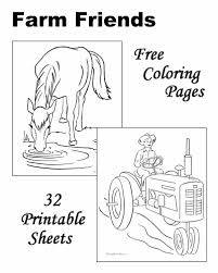Coloring Sheets And Pictures Farm Color Page