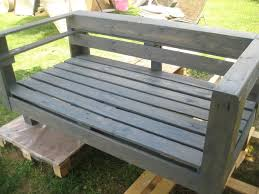Wood Garden Bench Plans by Diy Pallet Wood Garden Bench 99 Pallets