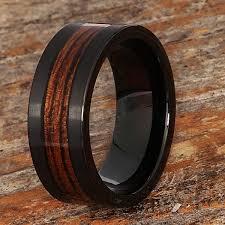 wood men rings images Neptune wooden rings black brushed for men forever metals jpg