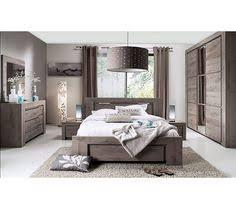 chambre complète contemporaine marius coloris chêne blanchi