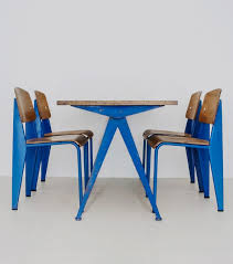 compass table 1953 and standard dining chairs 1950 by jean