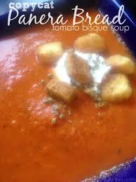 copycat panera bread creamy tomato bisque soup recipe tomato