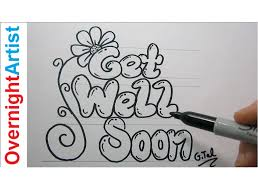 get better cards diy get well soon card easy step by step black marker