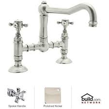 rohl country kitchen faucet rohl a1459xpn 2 country kitchen deck mounted bridge faucet with