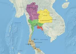 Thailand Map In World Map by Thai The Knot Sales Companion