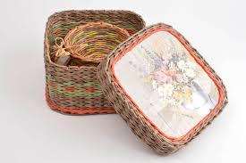 madeheart newspaper tubes box paper box home decor wicker basket baskets newspaper tubes box paper box home decor wicker basket unusual decoration madeheart com