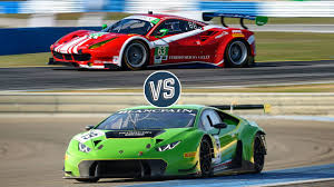 ferrari f1 factory ferrari vs lamborghini the battle of the gt3 race cars the drive