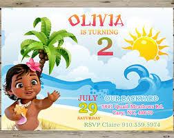 baby moana invitation etsy