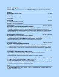 Sample Resume For Students In College by Ut College Of Liberal Arts