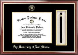 diploma frame of new mexico lobos embossed seal