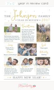 year in review card template holidays happy new year