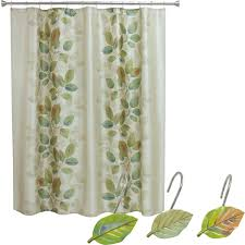 Amazon Shower Curtains Amazon Com Bacova Guild Shower Curtain Hooks Waterfalls Leaves