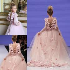 gowns for weddings girl pageant gowns for lace appliques sleeves communion