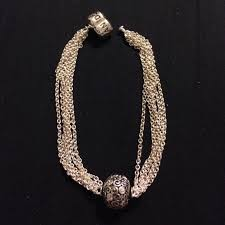 pandora sterling silver clip bracelet images 56 off pandora jewelry pandora multi strand single clip station jpg