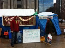 occupy philadelphia calls for thanksgiving dinner donations cbs