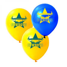 Party Decorations Cairns Balloons Nrl North Queensland Cowboys 25 Pk Decorations