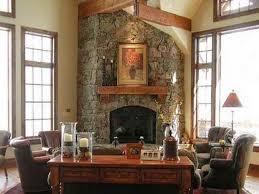 stone corner fireplace inspiring ideas