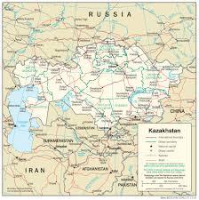 middle east map kazakhstan kazakhstan maps perry castañeda map collection ut library