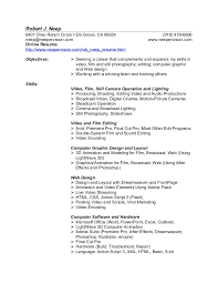 Video Resume Script Student Resume For College Admission Examples Example Of A