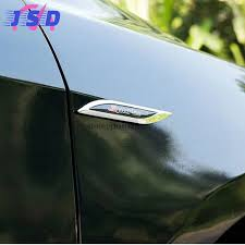 mitsubishi evo emblem car accessories for ralliart logo side stickers metal blade emblem