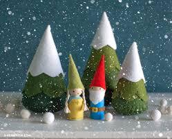 whimsical felt gnomes lia griffith