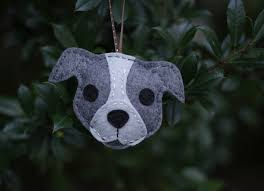 felt pitbull ornament gray part of a donation to stubby flickr