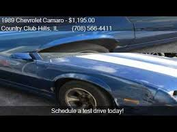 1989 camaro rs for sale 1989 chevrolet camaro rs for sale in country il