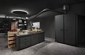 futuristic extractor hood mammut for kitchen by minacciolo